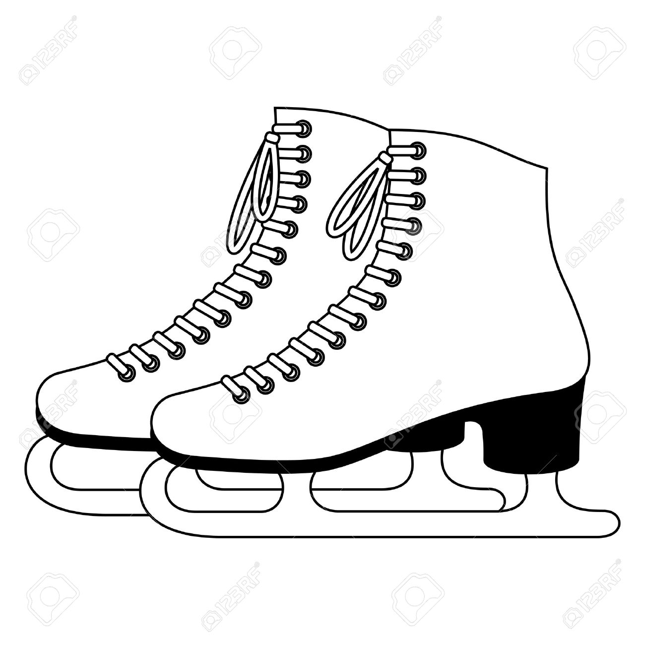 Ice skating pictures clip art .