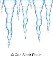 ... Icicles On A White Background As Win-... Icicles on a white background as winter spell.-11