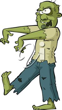 iCLIPART - Clip Art Illustration of a Zombie #clipart #illustration #halloween