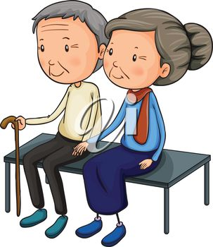 iCLIPART - Clip Art Illustration of Olde-iCLIPART - Clip Art Illustration of Older People Sitting on a Bench Together #clipart #-14