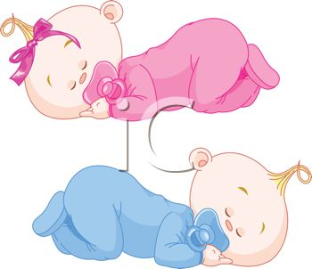 iCLIPART - Royalty Free Clipart Image of Baby Twins Sleeping | New Baby Clipart | Pinterest | Free clipart images, Twin and Boys