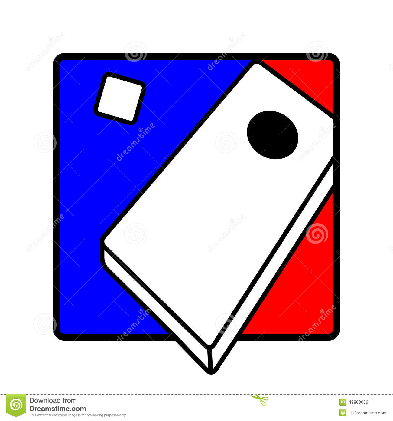 Icon Graphic Of A Corn Hole Game Showing-Icon Graphic Of A Corn Hole Game Showing The Board And Bag-17