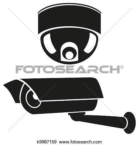 icons of surveillance cameras - Security Camera Clipart