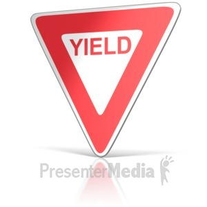 ID# 11722 - Yield Sign - Presentation Clipart