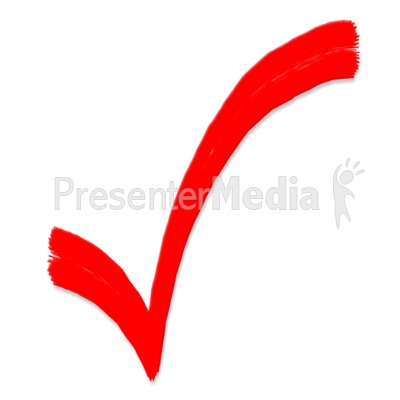 ID# 5131 - Check Mark Painted Symbol - P-ID# 5131 - Check Mark Painted Symbol - Presentation Clipart-15