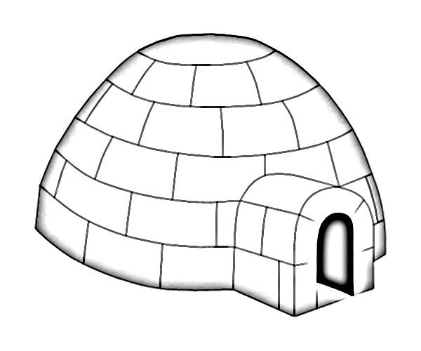 igloo clip art black and white