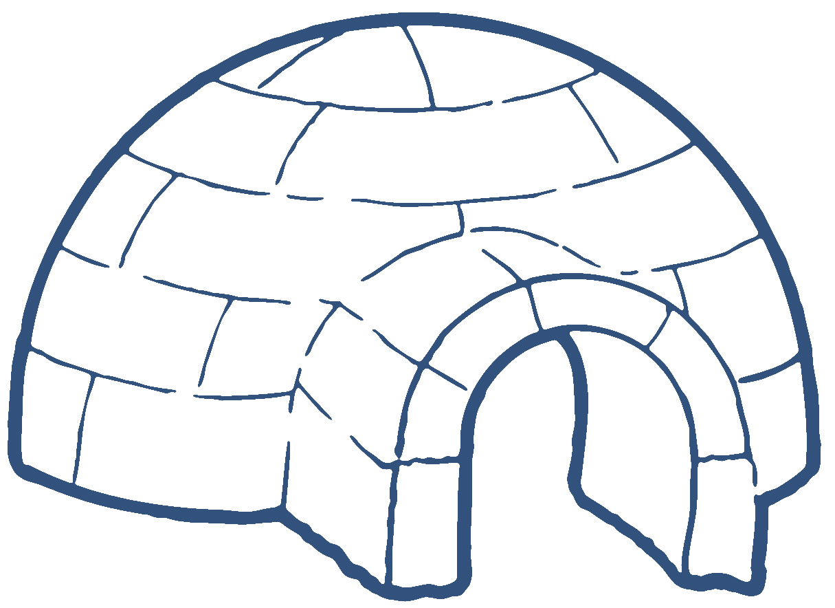 Igloo Clip Art Black And White Clipart Panda Free Clipart Images