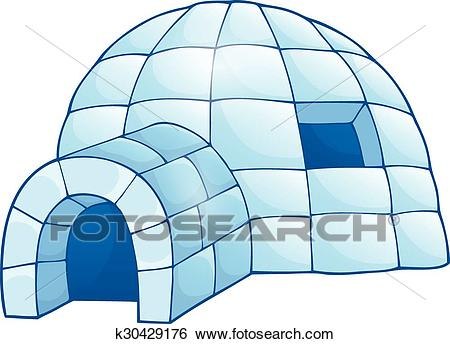 Clip Art - Igloo theme image . Fotosearch - Search Clipart, Illustration  Posters, Drawings