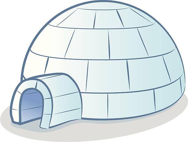 Igloo Cartoon vector art illustration