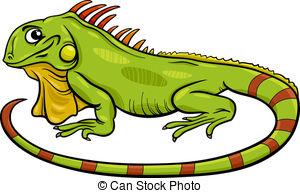 ... iguana animal cartoon illustration --... iguana animal cartoon illustration - Cartoon Illustration of... ...-2
