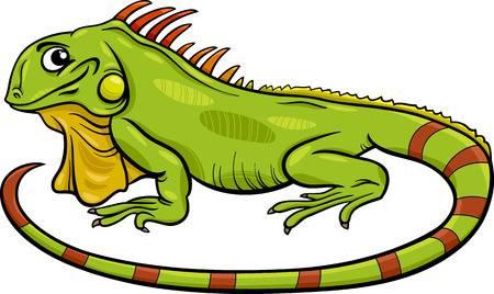 Cartoon Illustration Of Funny Iguana Liz-Cartoon Illustration of Funny Iguana Lizard Reptile Animal Character-4
