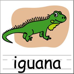 Clip Art: Basic Words: Iguana Color Labe-Clip Art: Basic Words: Iguana Color Labeled I abcteach clipartlook.com - preview 1-5