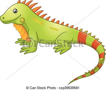 Cute Iguana Cartoon - Csp39539581-Cute iguana cartoon - csp39539581-8