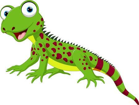 Cute Lizard Cartoon-Cute lizard cartoon-9