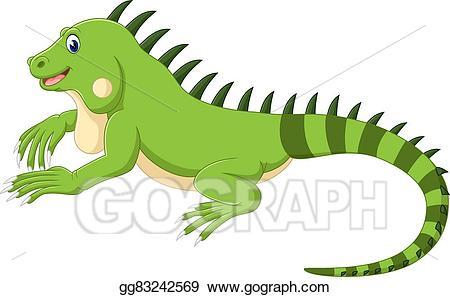 Iguana Cartoon-Iguana cartoon-13