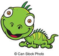 Iguana Clip Artby Kebay0/52 Iguana - Vec-Iguana Clip Artby kebay0/52 Iguana - Vector illustrations of Cartoon green  iguana-15