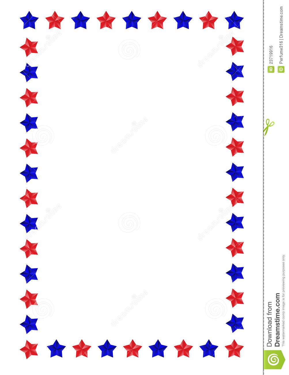 Illustrated u003cbu003eBorder - Star Border Clipart