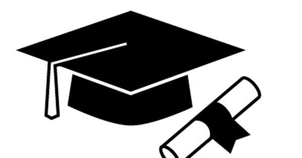illustration cap diploma graduation black white vector tassle