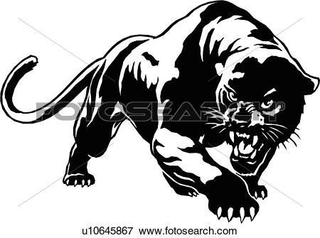 illustration, lineart, animal, panther, cougar, puma, mountain