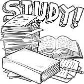 ... illustration u0026middot; School study sketch
