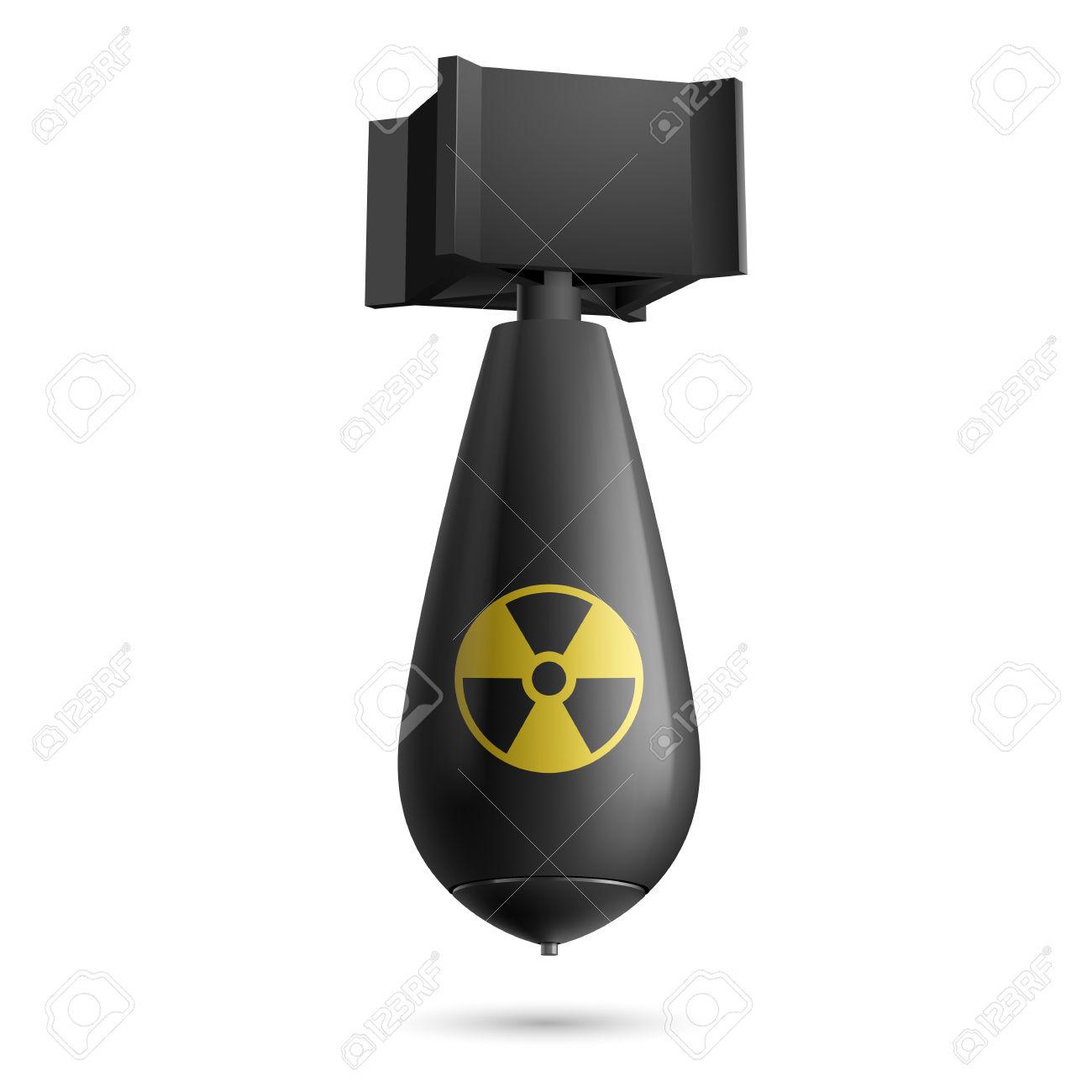 Illustration Of A Atomic Bomb .-Illustration of a atomic bomb .-16