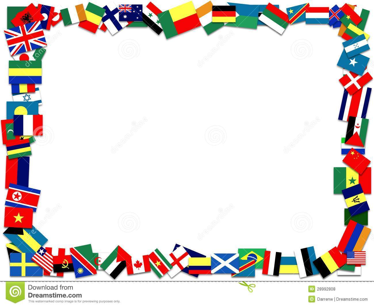 Illustration Of A Frame Made Of Many Fla-Illustration Of A Frame Made Of Many Flags-12