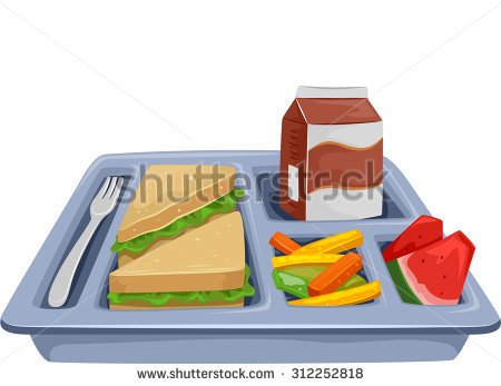 Illustration Of A Meal Tray .-illustration of a meal tray .-3