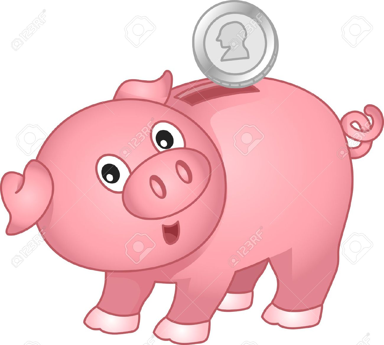 Illustration Of A Piggy Bank .-Illustration of a Piggy Bank .-4