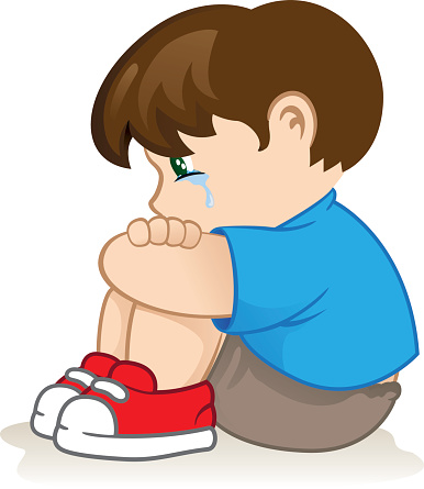 Illustration of a sad child, .