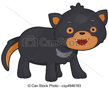 Illustration Of A Tasmanian Devil With E-Illustration of a Tasmanian Devil with Eyes Wide Open-3