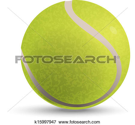Illustration of a tennis ball