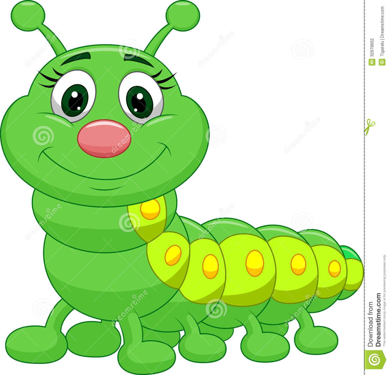 Illustration Of Cute Green Ca - Caterpillar Clipart