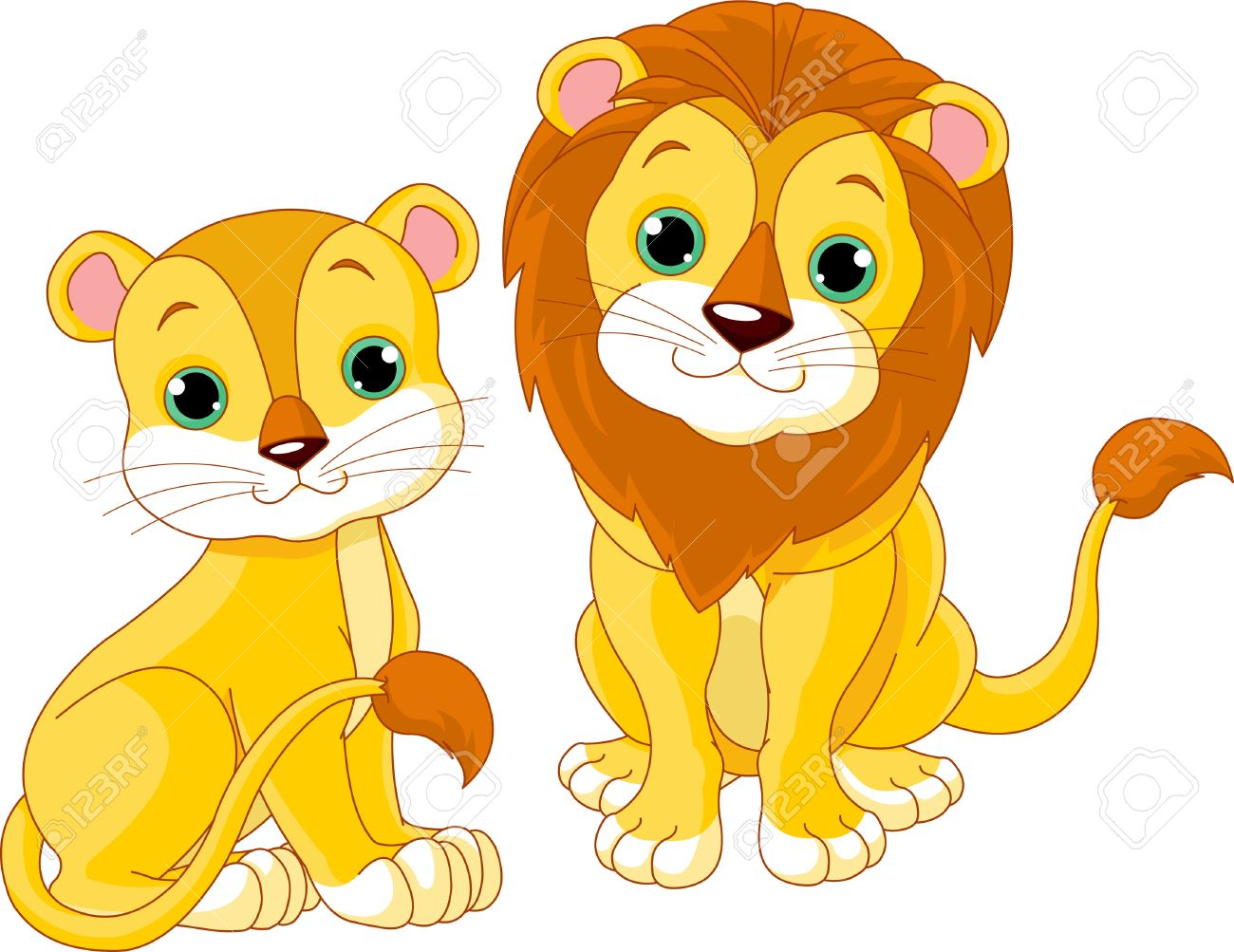 Illustration Of Cute Lion .-Illustration of cute lion .-12