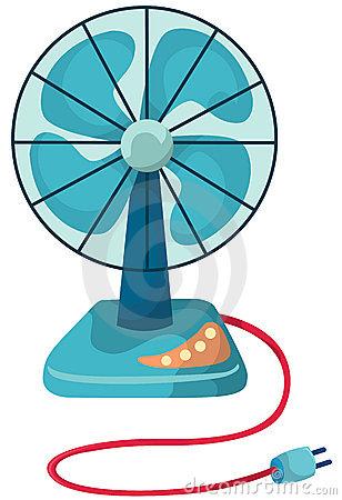 Illustration Of Isolated Blue Desk Fan On White Background