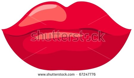illustration of isolated red  - Red Lips Clip Art