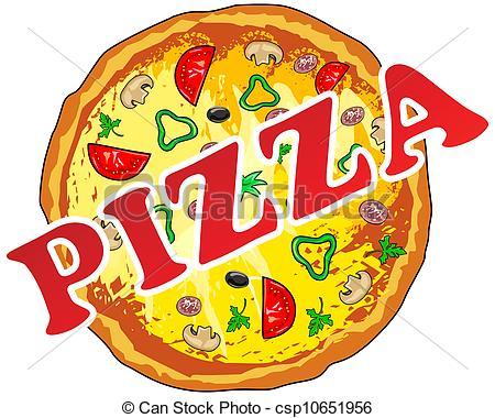 illustration of pizza .