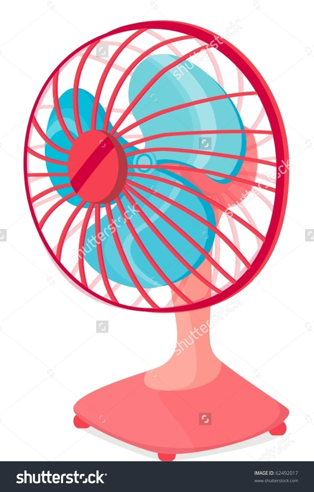 illustration of table fan on a .