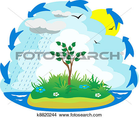 Illustration Of The Water Cycle-Illustration of the water cycle-8