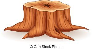 Illustration of tree stump .