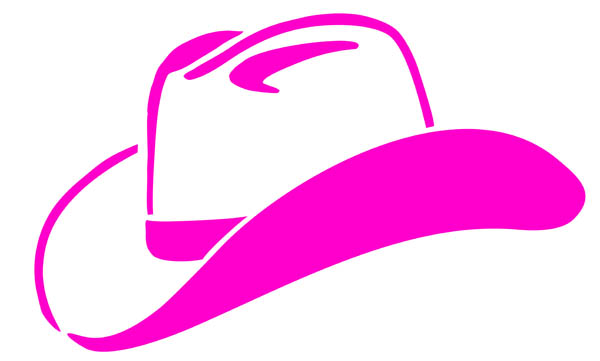 Illustration Of Western Style Cowboy Hat-Illustration Of Western Style Cowboy Hat Pink-14
