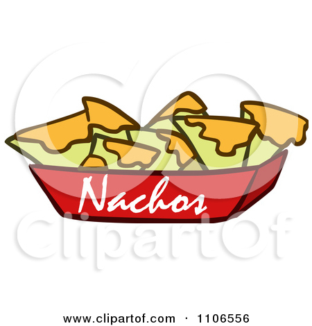 Image 1106556 Clipart Tray Of Nachos And Cheese Royalty Free Vector