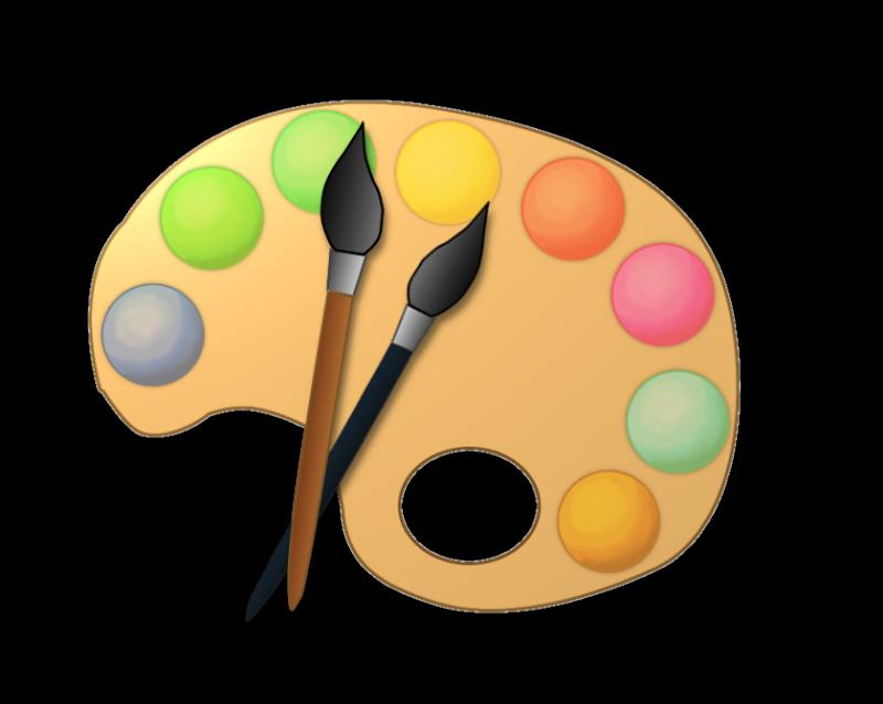 Image artist paint palette .