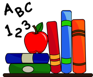 Image Clipart Of A Stack Of Books With A-Image Clipart Of A Stack Of Books With An Apple And Abc S And 123 S-16