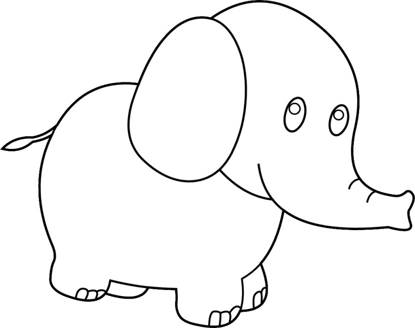 Image Cute Elephant Clipart Black And Wh-Image Cute Elephant Clipart Black And White-14