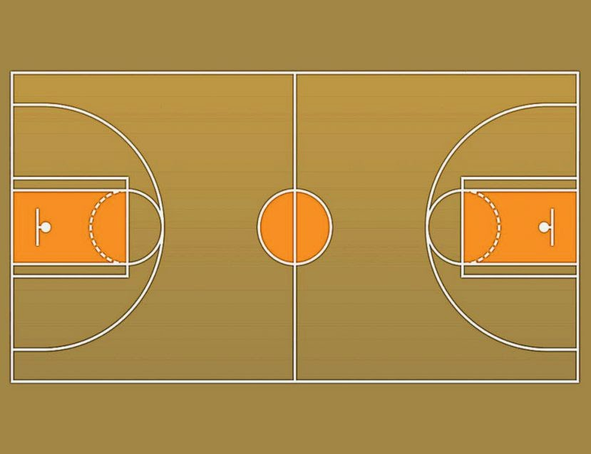 Image Gallery For Outside Basketball Court Clipart