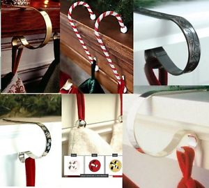 Image is loading Original-CHRISTMAS-STOC-Image is loading Original-CHRISTMAS-STOCKING-HOLDERS-hanger-hook-support-Mantle--3