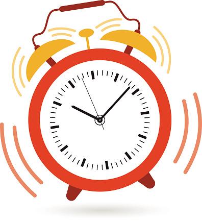 Image of an alarm clock .-Image of an alarm clock .-8