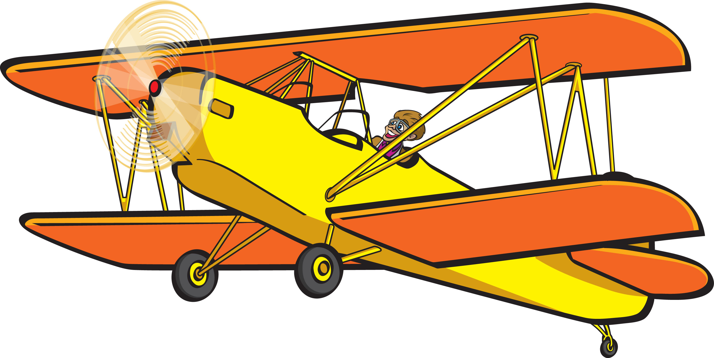Image of Biplane Clipart Bipl - Biplane Clipart