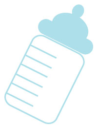 Image Of Blue Baby Bottle Clipart-image of blue baby bottle clipart-12