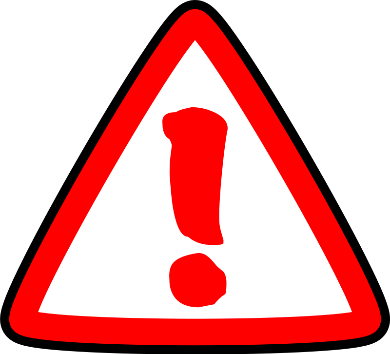 Image of Caution Clipart .